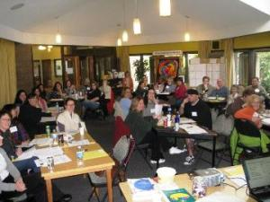In Victoria Susan and I had a great time with a full room of self-advocates - the remarkable thing was how many of them were helping out with aged relatives or volunteering in seniors centres - they were providing the networks for others!
