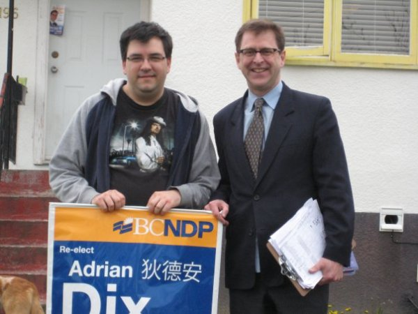 Kelly makes a new friend, Adrian Dix