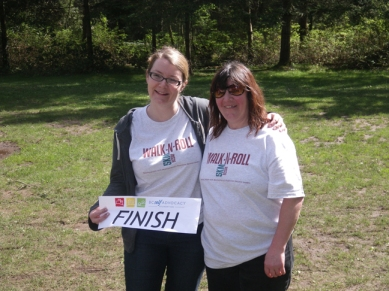 Mandy Wold and Jo-Anne Gauthier at the 2012 Walk N Roll Fundraiser