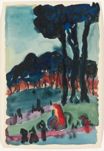 The Park at Night 1918  Georgia O'Keeffe