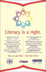Poster from the City of Toronto Literacy Campaign