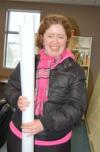 Amanda with her PATH, rolled up and ready to hang on her wall at home :)